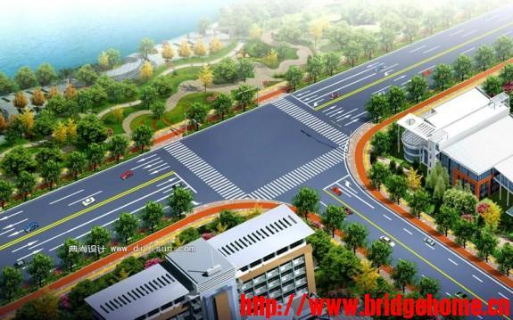 道路工程,路口效果图